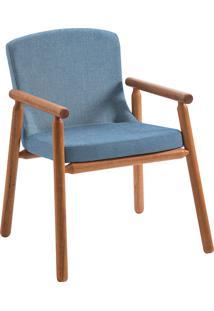 Poltrona Bonini F56-1 Linho 1 Lugar – Daf Mobiliário - Azul Jeans