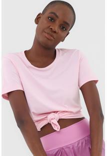 Camiseta Alto Giro Skin Recortes Rosa