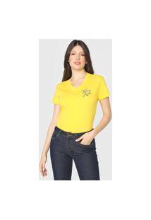 Camiseta Tommy Jeans Logo Vintage Amarela