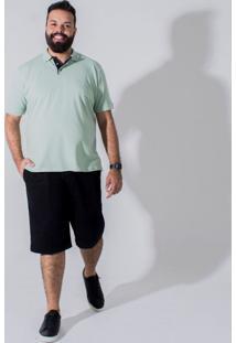 Bermuda Sarja Plus Size Bolso-Faca Longford Preto