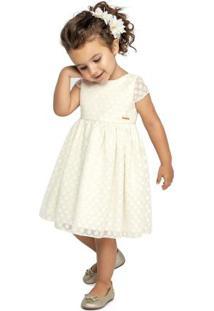Vestido Marisol Bege Menina