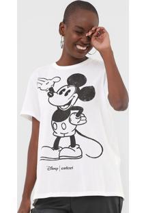 Camiseta Colcci Disney Mickey Off-White