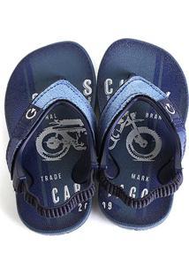 Sandália Infantil Grendene Kids Cartago Dakar Plus Baby - Masculino-Azul+Bege
