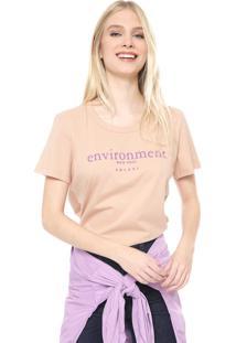 Camiseta Colcci Environment Rosa