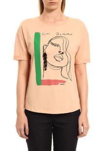 Camiseta Sommer Estampada Bege