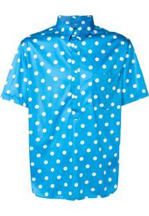 Comme Des Garçons Homme Plus Camisa Com Poás - Azul