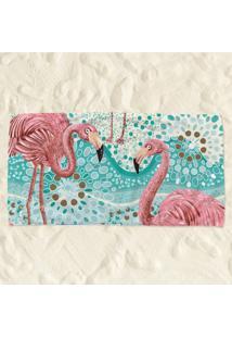 Toalha De Praia Flamingos Pump Up