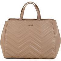3a0579a77 Bolsa Colcci Handbag Letras Matelassê Feminina - Feminino-Caramelo