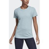 88f46d9abca22 Camiseta Adidas Gola Careca Id Winners Feminina - Feminino-Azul