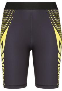 Givenchy Short Ciclista Com Logo - Preto