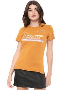 Camiseta Coca-Cola Jeans Estampada Amarela