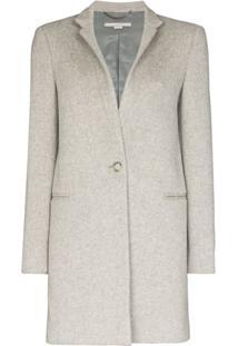 Stella Mccartney Casaco De Lã Com Abotoamento Simples - Cinza