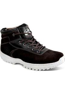 Bota Adventure Masculina Sandro Moscoloni Bettega Marrom Escuro Coffee