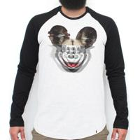 El Cabriton. Glitchey - Camiseta Raglan Manga Longa Masculina 9c77054e84df7