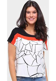 Camiseta Forum Estampada Feminina - Feminino-Branco+Preto