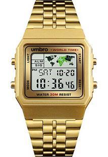 Relógio Umbro Digital 116 G - Unissex-Dourado