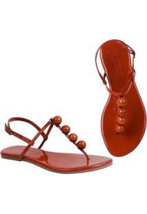Rasteira Flat Bolinhas Mercedita Shoes Confortável Dia A Dia Casual - Feminino-Bordô