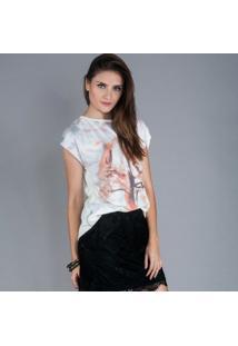 Camiseta Fernanda Almeida Cavalo - Feminino-Estampado