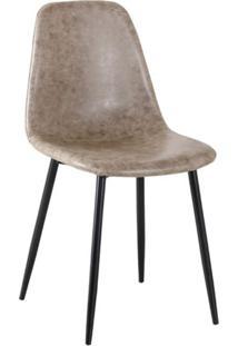 Cadeira Tania Cinza E Preto
