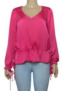 Blusa Fem Borda Barroca 1001283 Pink