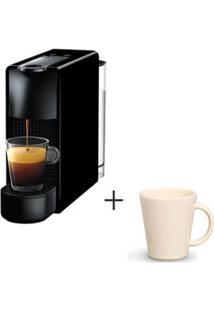 Cafeteira Nespresso Essenza Preto C30-Br - 110V + Canecas Basic Ceramica Com 04 Pecas Bege - Porto Brasil