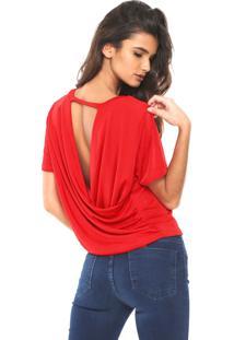 Camiseta My Favorite Thing(S) Abertura Costas Vermelha