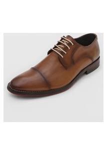 Sapato Social Ferracini Solado Amadeirado Marrom