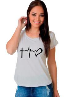 Camiseta Shop225 Faith Hope And Love Branco