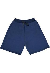 Bermuda Moletom Polo Match Masculina - Masculino-Azul