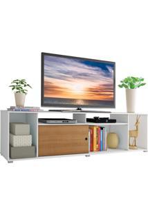 Rack Para Tv Até 65 Polegadas Madesa Cancun - Branco/Rustic Branco