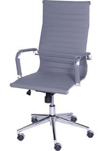 Cadeira Eames Alta Cinza Base Cromada - 27109 - Sun House