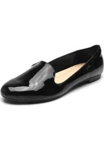 Slipper Facinelli By Mooncity Verniz Preto