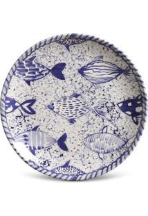 Prato Sobremesa Coup Fish Cerâmica 6 Peças Porto Brasil