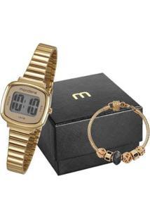 Relógio Feminino Mondaine Digital 53717Lpmvde1K2 Com Pulseira - Feminino-Dourado