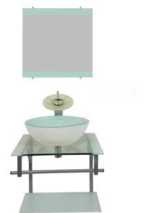 Gabinete De Vidro Para Banheiro Croácia Branco Ekasa