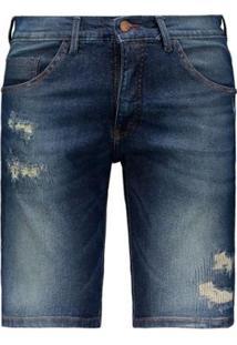 Bermuda Jeans Hd Slim Masculina - Masculino-Azul