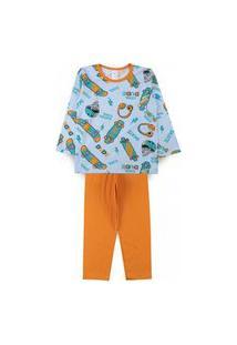 Pijama Infantil Dude Azul 2821 - Kappes