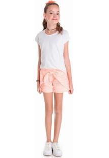 Shorts Infantil Tileesul Claro Feminino - Feminino-Rosa