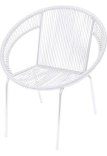 Cadeira Em Aço E Pvc Cancun Branca