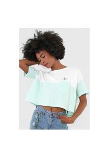 Camiseta Cropped Hang Loose Over Enjoy Branca
