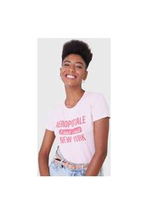 Camiseta Aeropostale New York Rosa