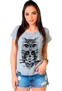 Camiseta Shop225 Coruja Catrina Mescla