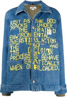 A.P.C. Jaqueta Jeans X Brain Dead - Azul