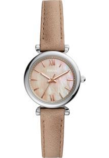 Relógio Analógico Fossil Feminino - Es4530/0Kn Bege