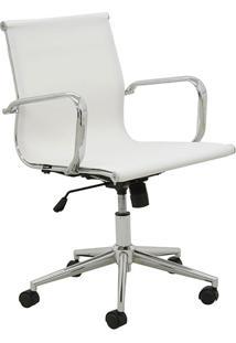 Cadeira De Escritório Baixa Tela Sevilha-Rivatti - Branco