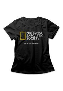 Camiseta Feminina Sarcastic Society Preto