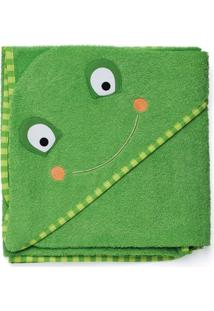 Toalha De Banho Infantil Skip Hop - Linha Zoo - Coleção Sapo - Masculino-Verde