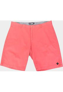 Bermudas Gajang Lisa Plus Size Masculina - Masculino-Rosa