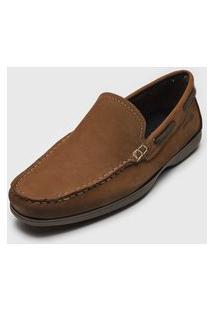 Sapato Pegada Pespontos Marrom