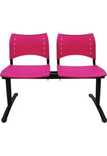 Cadeira Longarina 2 Lugares Rosa Evidence Executiva